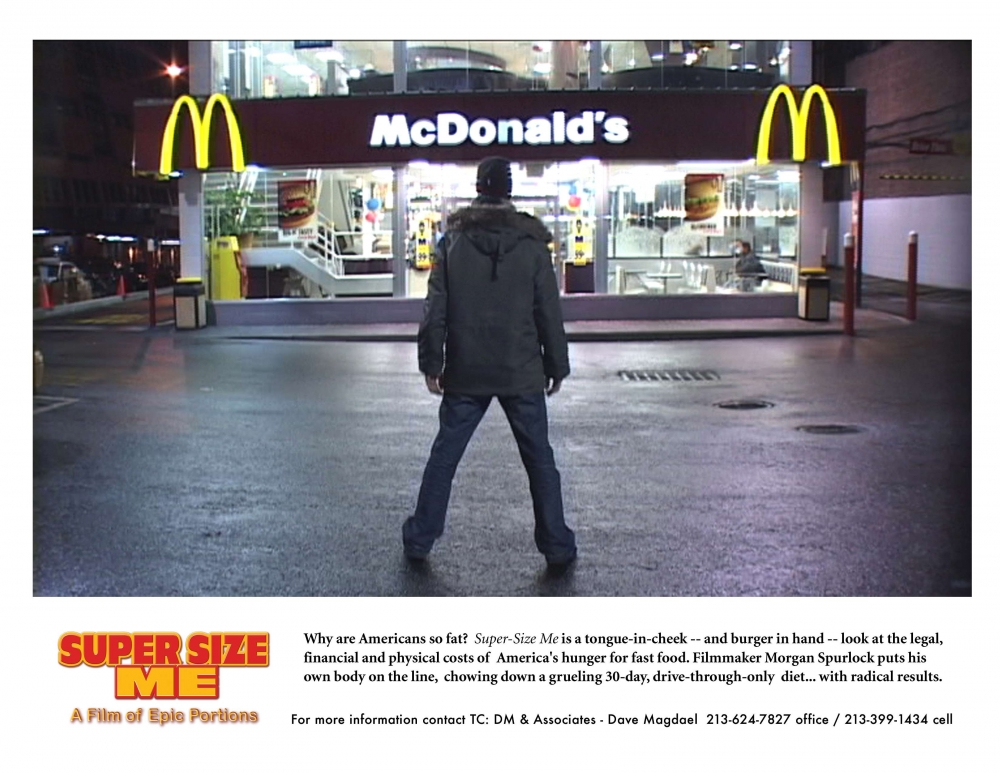 super size me movie essay Super size me2: holy chicken writer/director  freedom the movie executive producer/morgan spurlock presents  super size me.