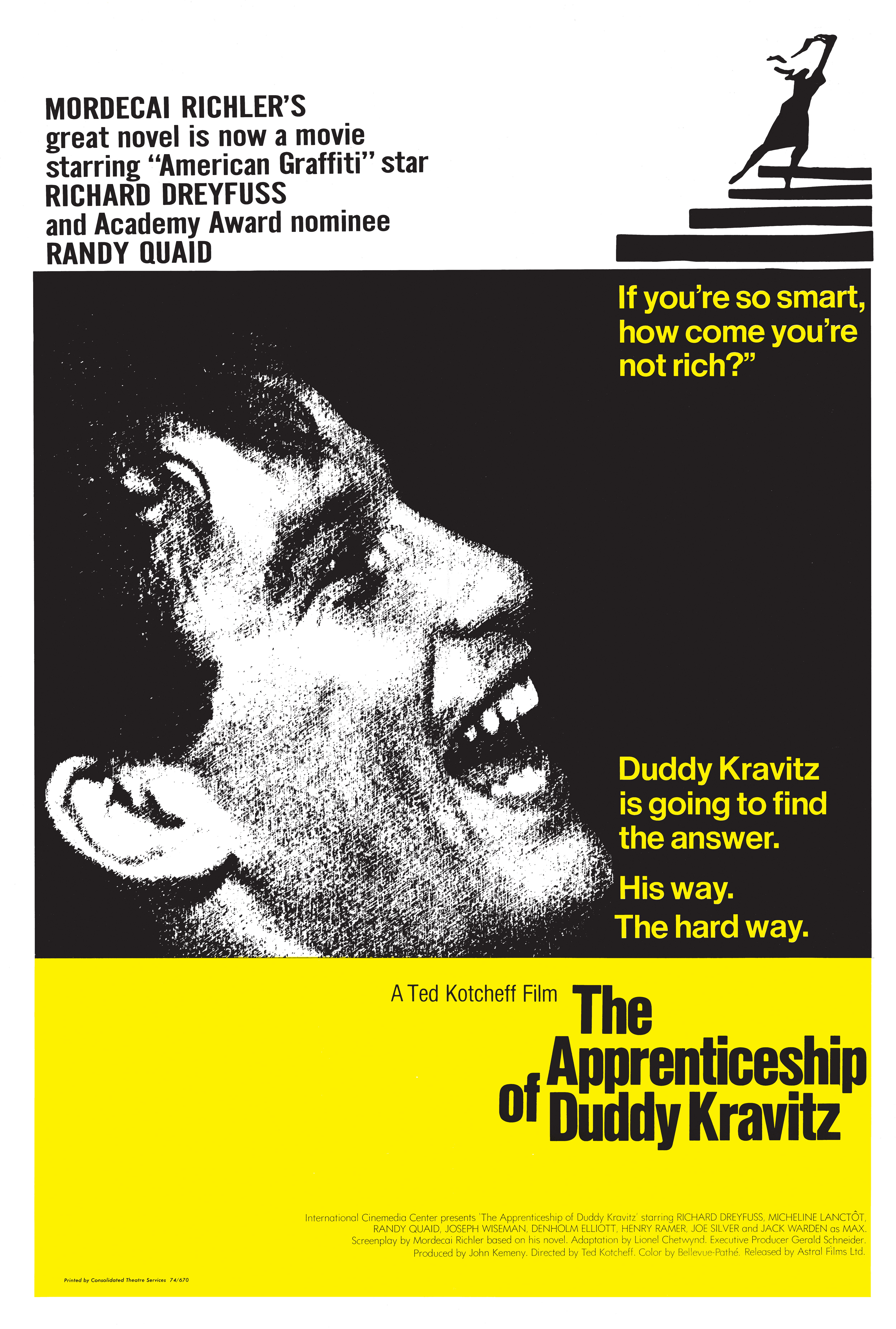 an analysis of the tragic fall of duddy in the apprenticeship of duddy kravitz
