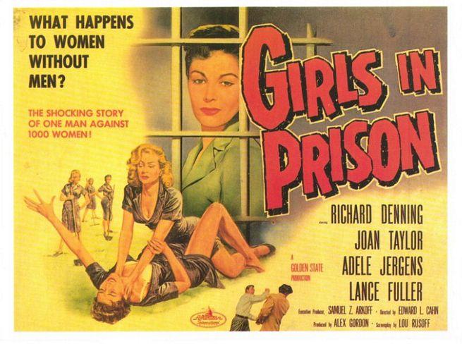 Джоан Тейлор. Адэль Йоргенс. Все постеры Девочки в тюрьме. Ричард Дэннин